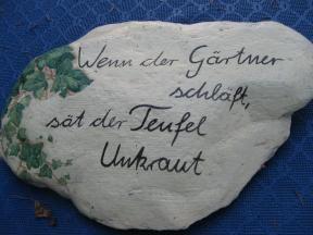 Simple Spruch Wenn der Garten schl ft