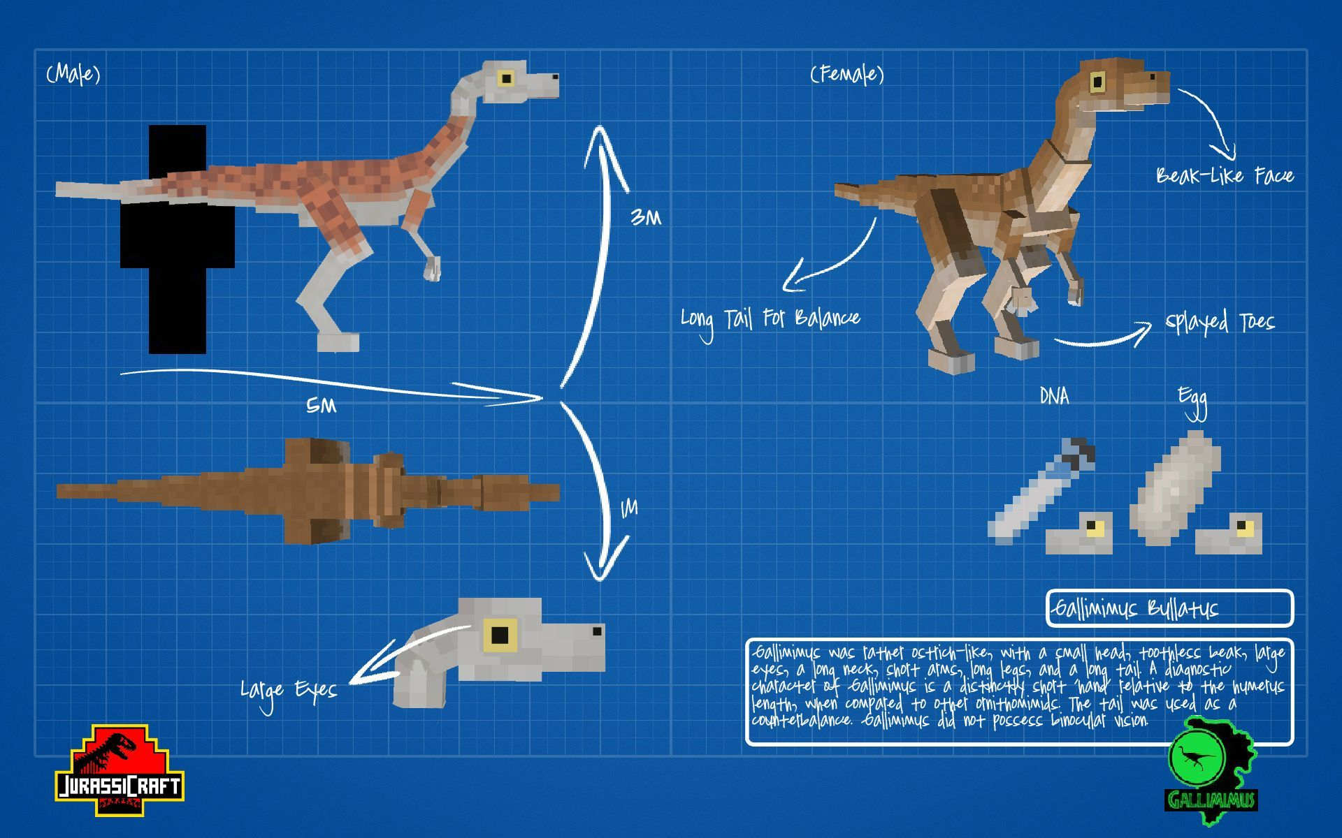 Velociraptor Minecraft Pixel Art - Year of Clean Water