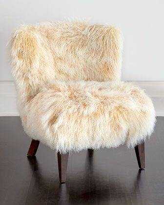 Massoud Lanza Sheepskin Chair Sheepskin Chair Beige Chair