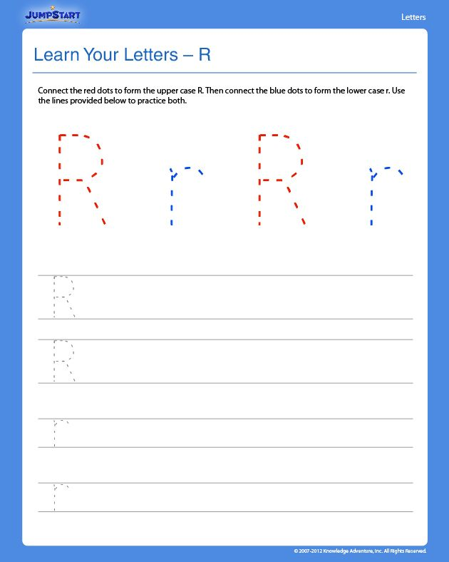 Learn Your Letters - R - Free Preschool Writing Worksheet -- good - use case template