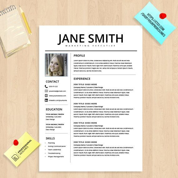 Professional Resume Template Design Which Can Be Fully Edited In