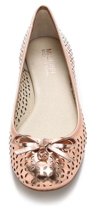 acb2df731 gorgeous Michael Kors rose gold flats | Gorgeous Shoes | Shoes ...