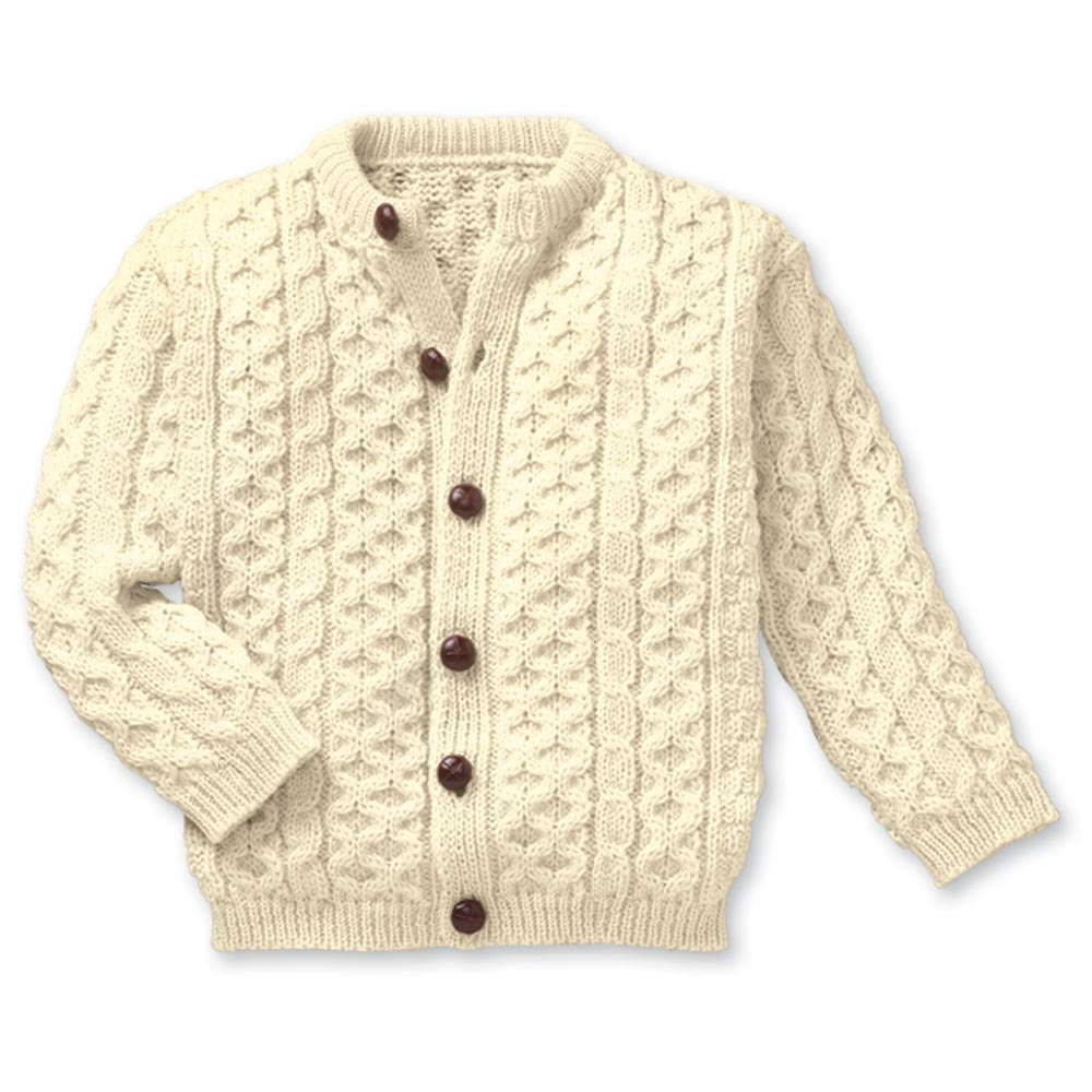 Child's Aran Knit Cardigan | Irish sweater, Aran sweater