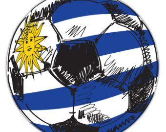 Uruguay Flag Soccer Ball Sticker