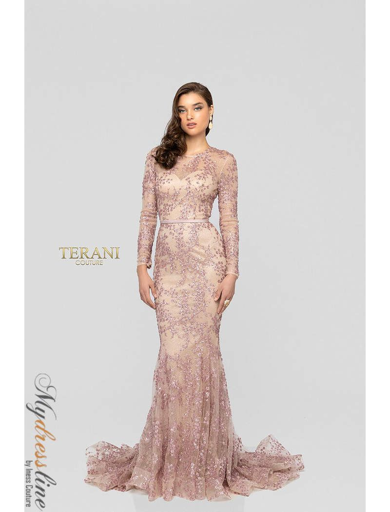 27328c7bf9 Terani Couture Long Sleeve Dress - Data Dynamic AG