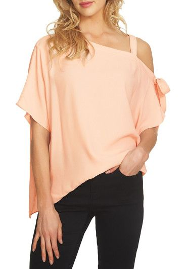 892f0ce36e24a one-shoulder tie sleeve blouse by 1.State. A one-shoulder neckline adds  of-the-moment style to a nicely draped blouse that s cinched at one side  with ...