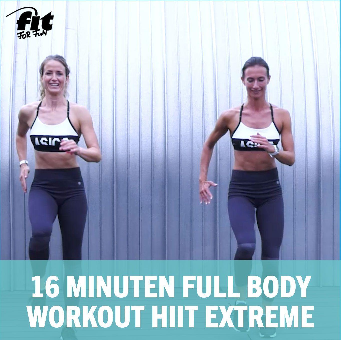 Ganzkörper Bodyweight Training: 16 Minuten Full Body Workout HIIT Extreme,  #body #Bodyweight #extre...