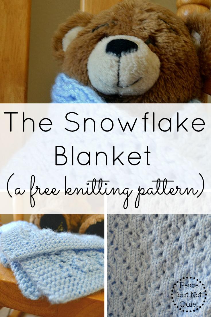 Snowflake Blanket Knitting Pattern | Simple knitting patterns ...
