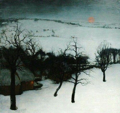 Valerius de Saedeleer (Belgian, 1867-1941) - Winter In Flanders, 1931 Paintings