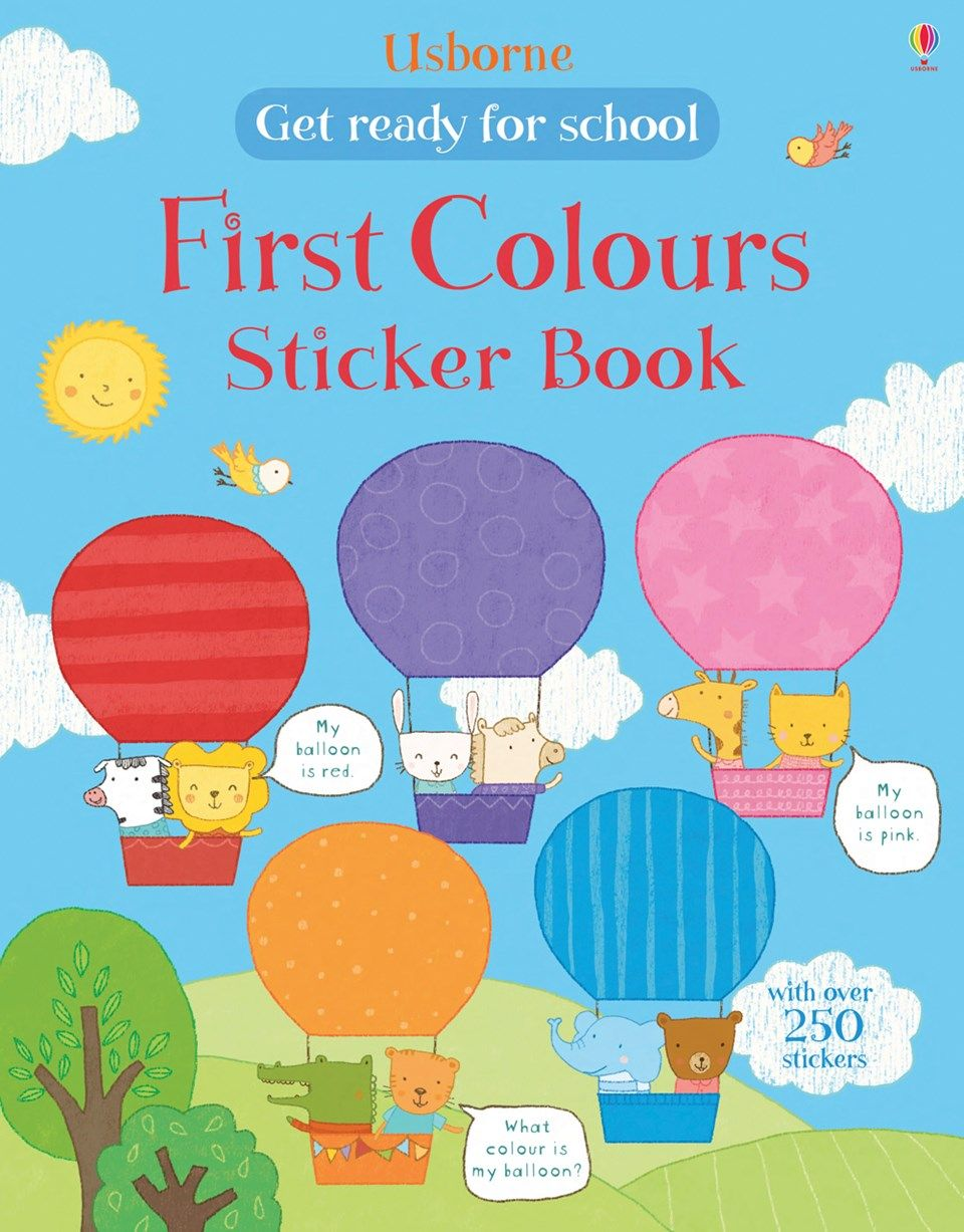 Find Out More About Get Ready For School First Colours Sticker Book Activity Books My Pretty Pink Write A Review Or Buy Online