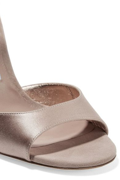 66290085cd69 Jimmy Choo - Helen 100 Glitter-trimmed Satin And Suede Sandals - Antique  rose