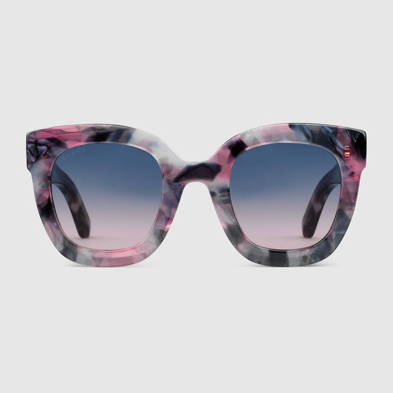 c6298559ee Gucci - Round-frame acetate sunglasses with star