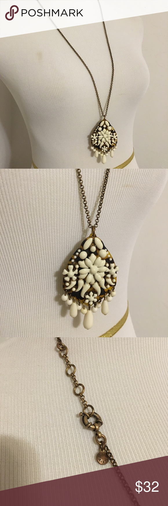 J Crew crystal fiesta pendant necklace My Posh Picks Pinterest
