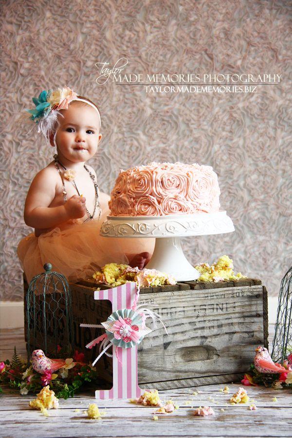 1st Birthday Cake Smash Instead Of Pink Blue Ivy Caj