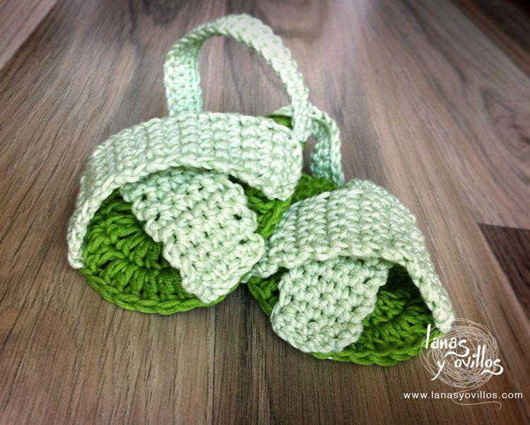 Sandalias bebe crochet patron gratis Baby shoes | sandalias ...