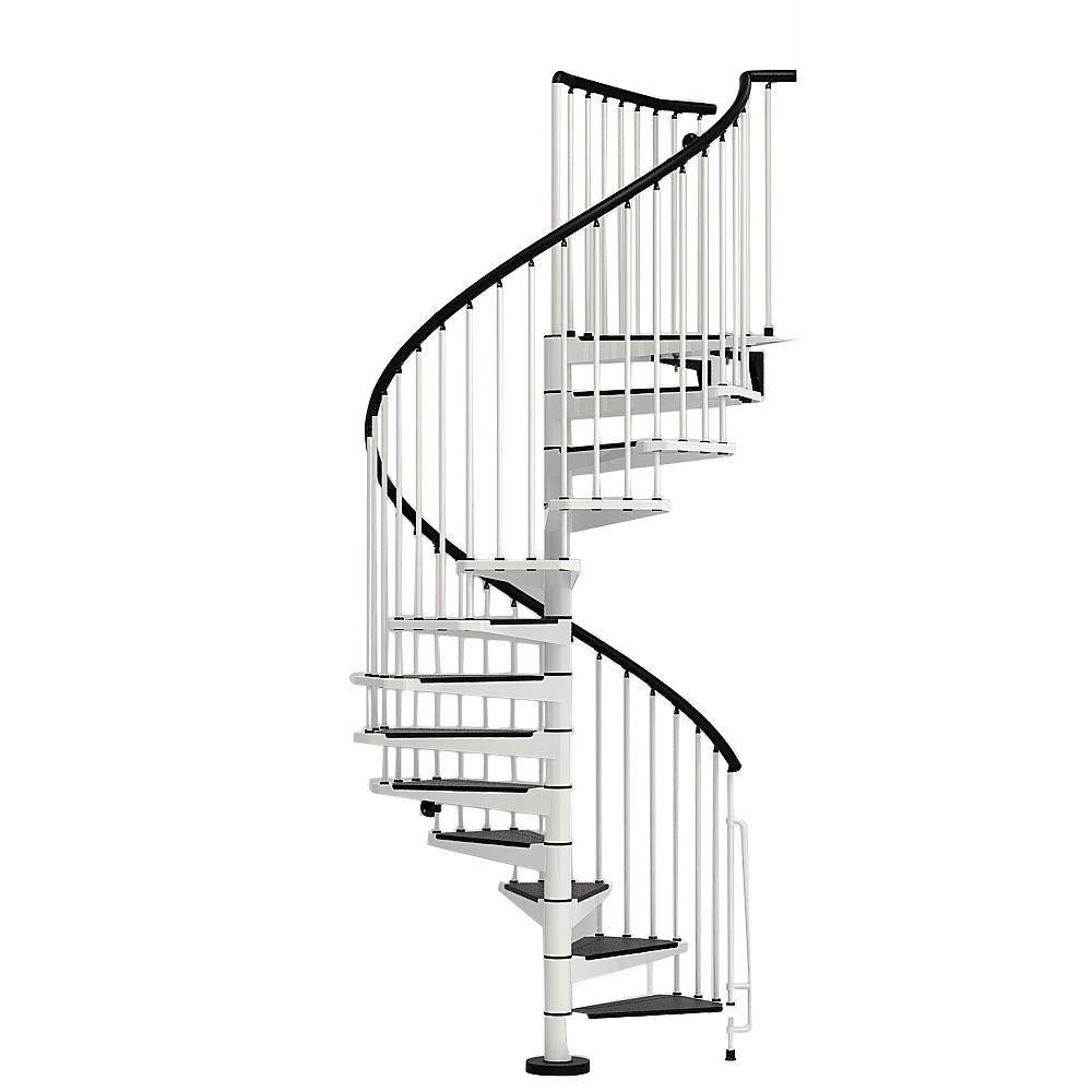 Best Arke Civik 55 In White Spiral Staircase Kit Spiral 400 x 300