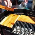 Arrange the planks over the surface of the grill, making sure there's some space for heat and air to flow around the sides.