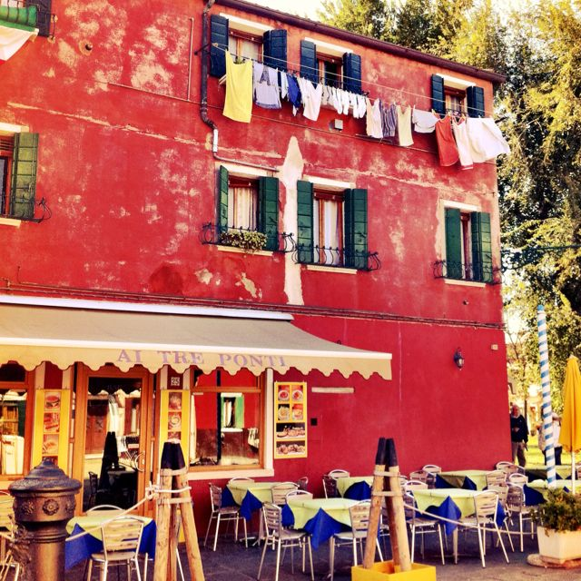 Cafe--Burano, Italy We had lunch here.