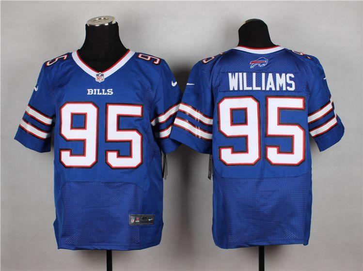 Cheap Men Buffalo Bills 95 Mario Williams Blue Elite Nike NFL Jerseys  supplier