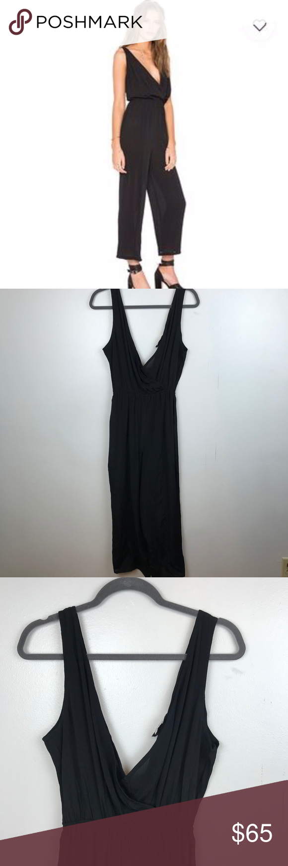 d06eaf1eb81c Privacy Please Gansel Black Jumpsuit  size small  pre-owned. Great  condition. No visible flaws  laying flat approx measurements  shoulder to  hem 52