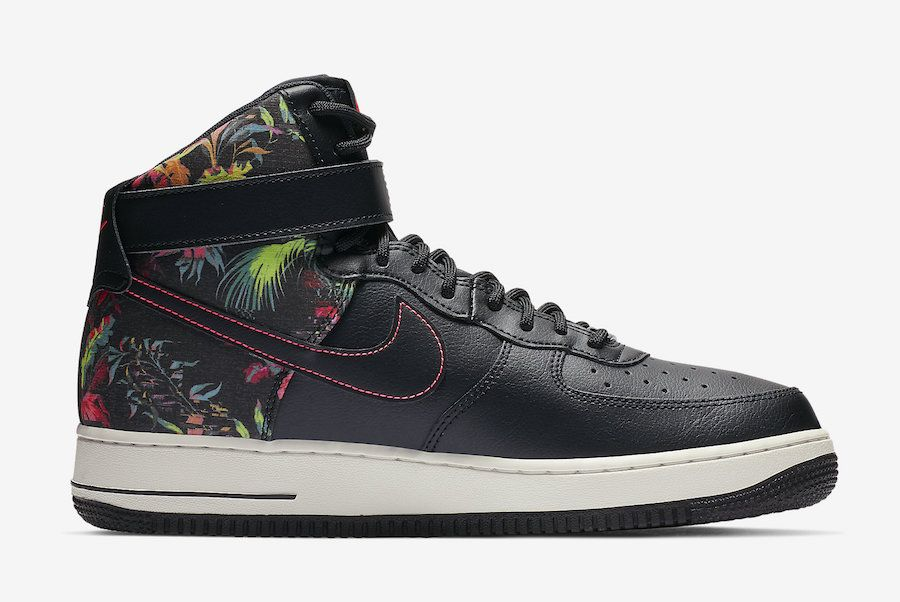 Nike Air Force 1 High Black Floral CI2304 001 Release Date