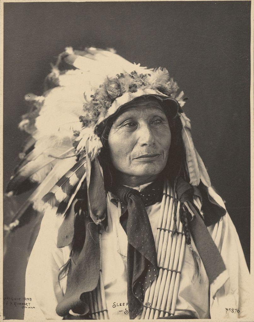 Sleeping bear sioux adolph f muhr american died 1913