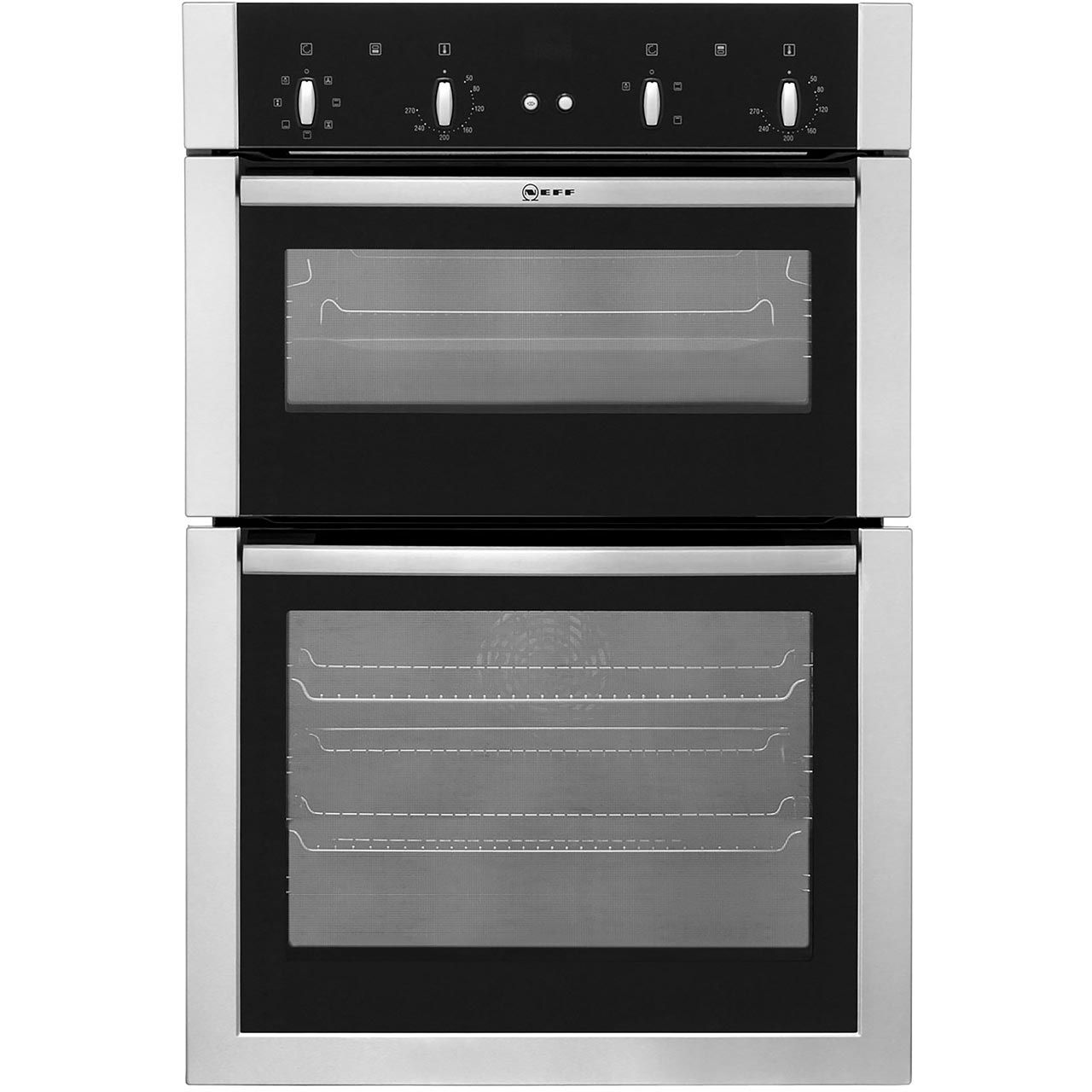 Neff U14m42n5gb Built In Double Oven Stainless Steel B A Rated Stainless Steel Oven Built In Double Ovens Double Oven