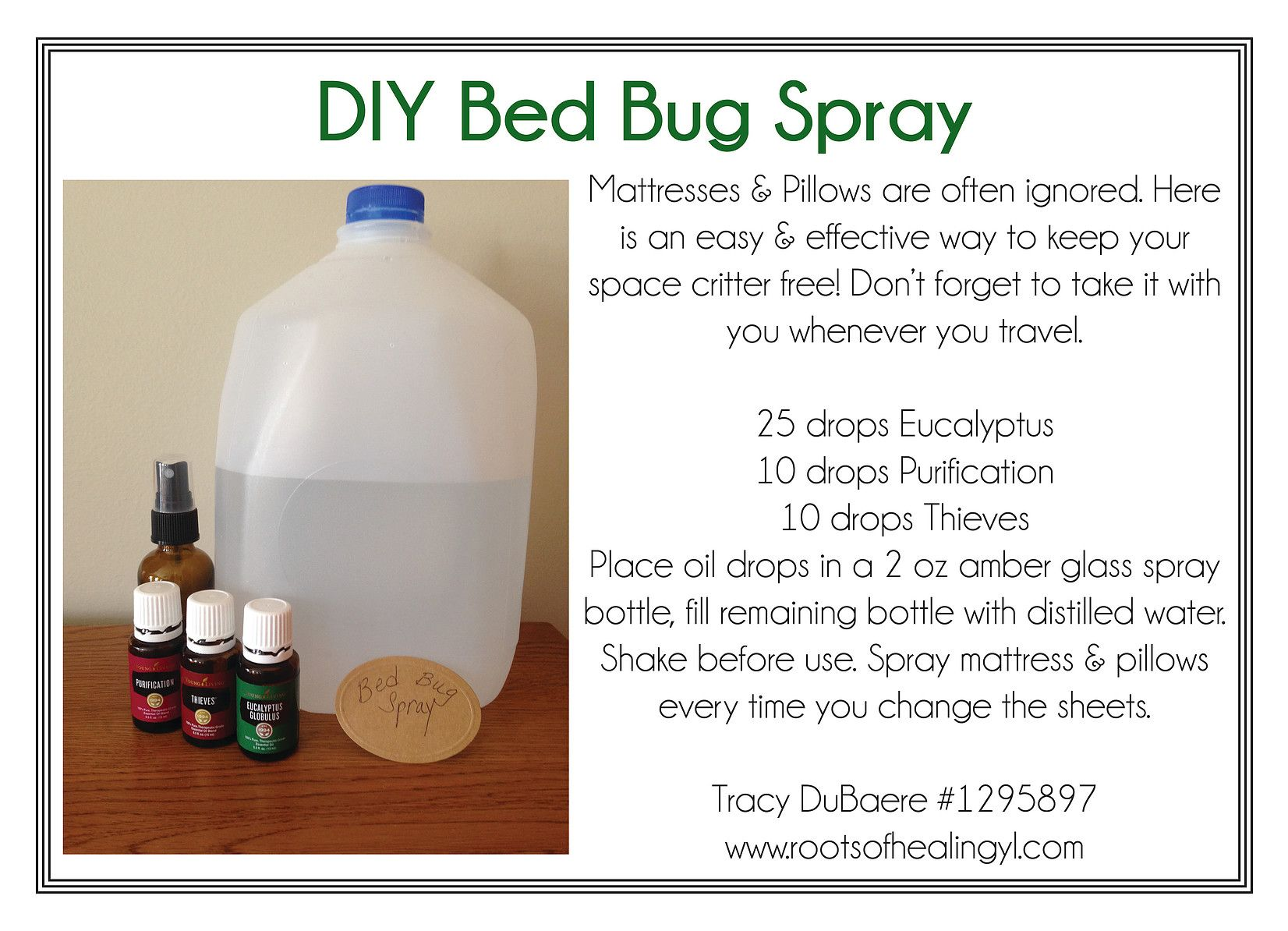 Diy Bed Bug Spray With Essential Oils Oils Pinterest