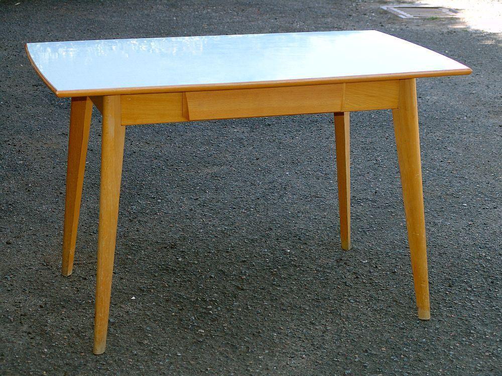 Details zu 1950er 60er jahre vintage tisch ausziehbar for Vintage tisch ausziehbar