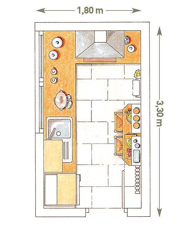 Cocinas peque as con planos cocina peque a planos y for Planos de cocinas con office