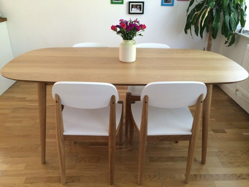 Edelweiss Extending Dining Table Ash And White Made Com