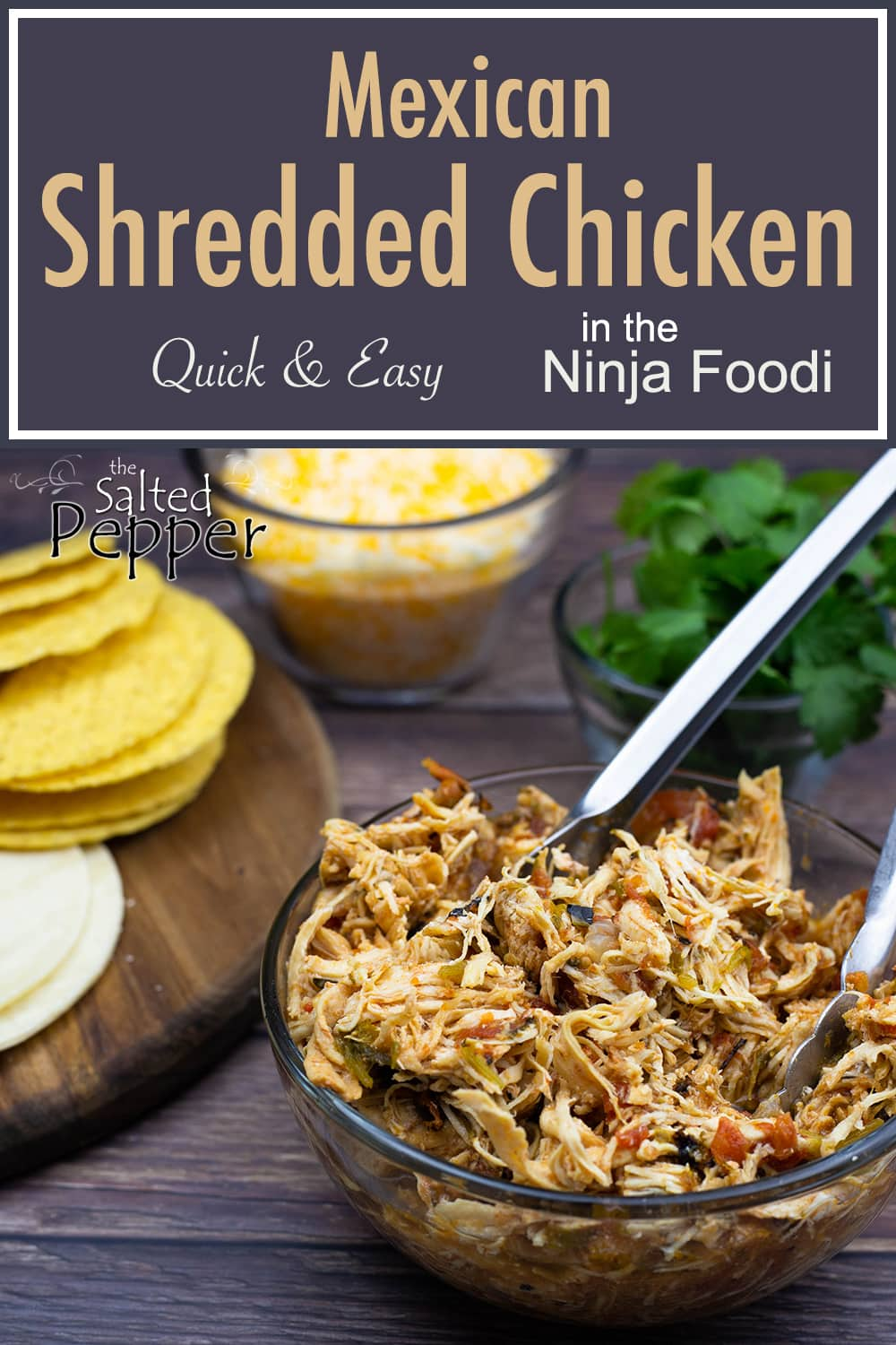 Deliciously Simple Mexican Shredded Chicken Made Right In The Ninja Foodi Or Electric Pressur Mexican Shredded Chicken Shredded Chicken Mexican Chicken Recipes
