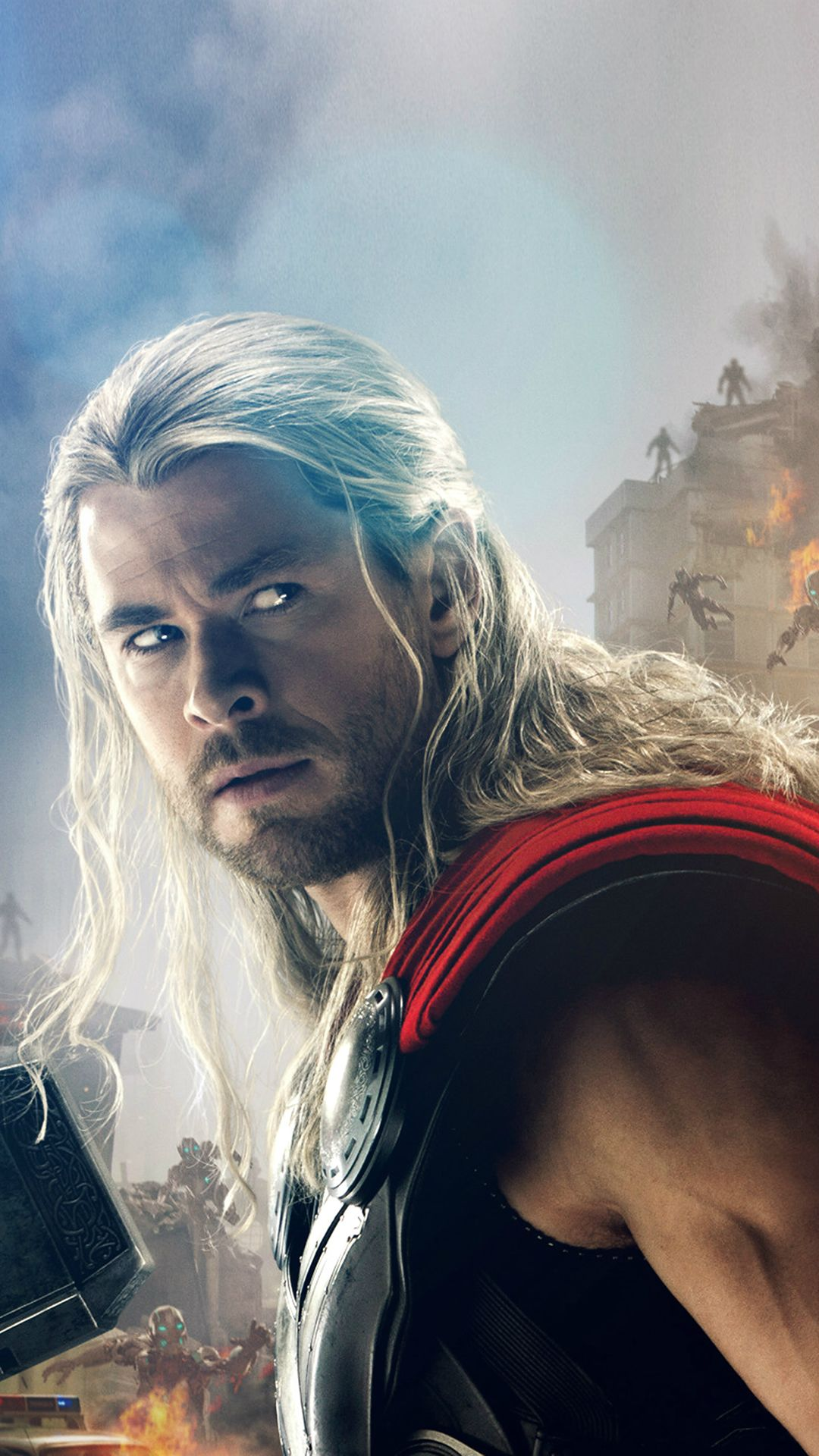 Avengers Age Of Ultron Thor Chris Hemsworth iPhone 8 Wallpapers