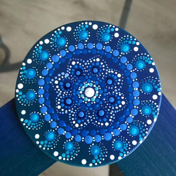 Mandala punto arte imán lona por Mandaladropsofjoy en Etsy