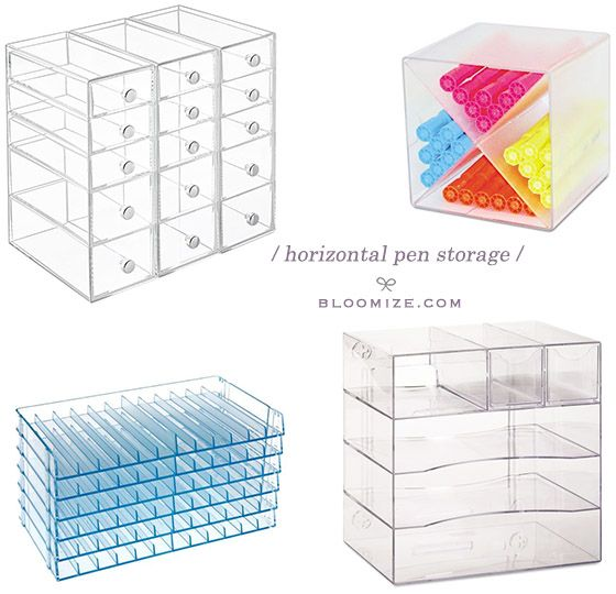 Horizontal Marker Pen Storage Drawers Desk Cube X Divider Pen Storage Pen Organization Pen Storage Diy