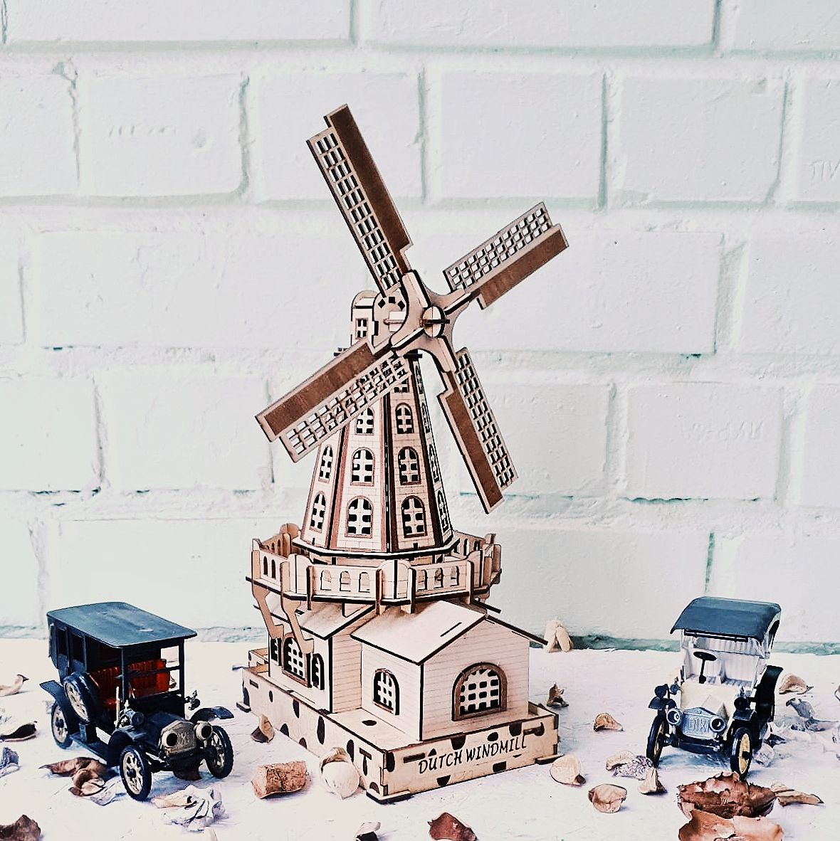 Wooden 3d Puzzle Build Your Own Dutch Windmill Craft Kit For Adults Constructor Self Assembly Unique Items Products Crafts Craft Kits