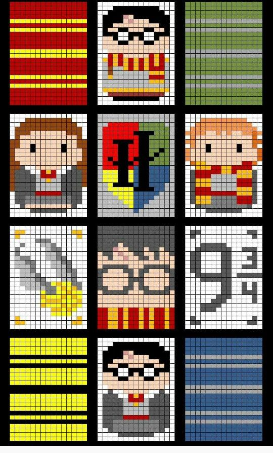 Harry potter graph | Crochet! | Pinterest | Harry Potter Decke ...
