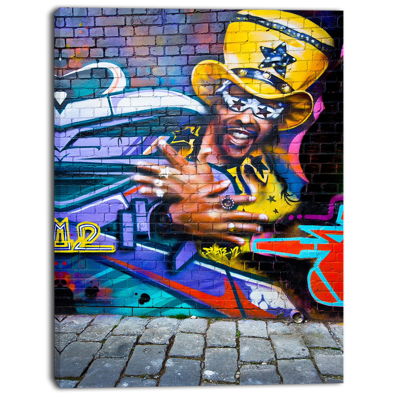 Designart Melbourne Graffiti Art Street Art Canvas Print