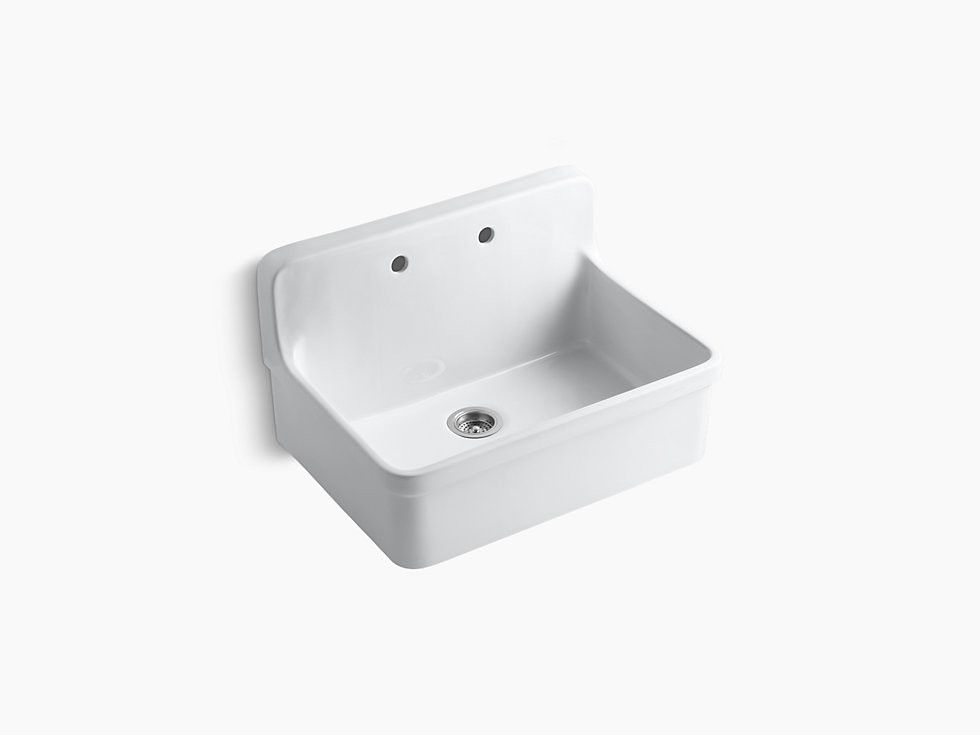 Kohler K 12700 Gilford 30 Porcelain Farmhouse Sink With