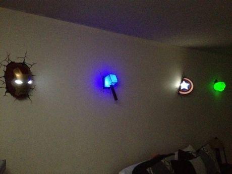 3d Wall Art Nightlight avengers 3d wall art lamps   geek piñata - geek fashion   pinterest