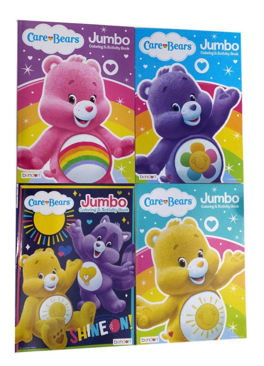 New Set Of 4 Care Bears Cousins Jumbo Kids Coloring Book And Activity Books Set Kids Coloring Books Coloring For Kids Care Bears Cousins