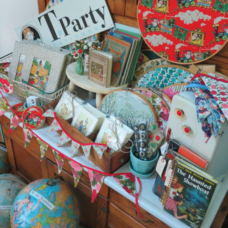 T-Party Antiques Pop Up Items