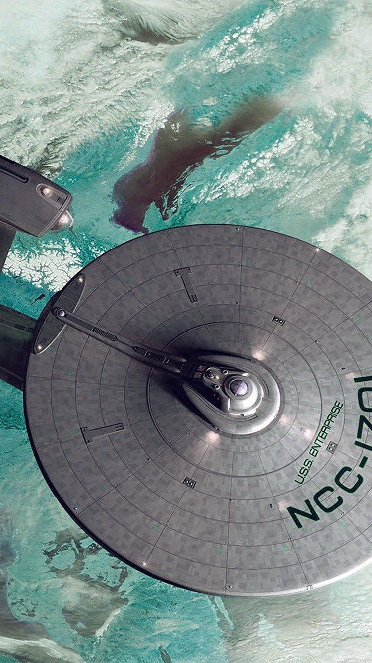 Starship Enterprise Blue Space Art Illust iPhone 6s