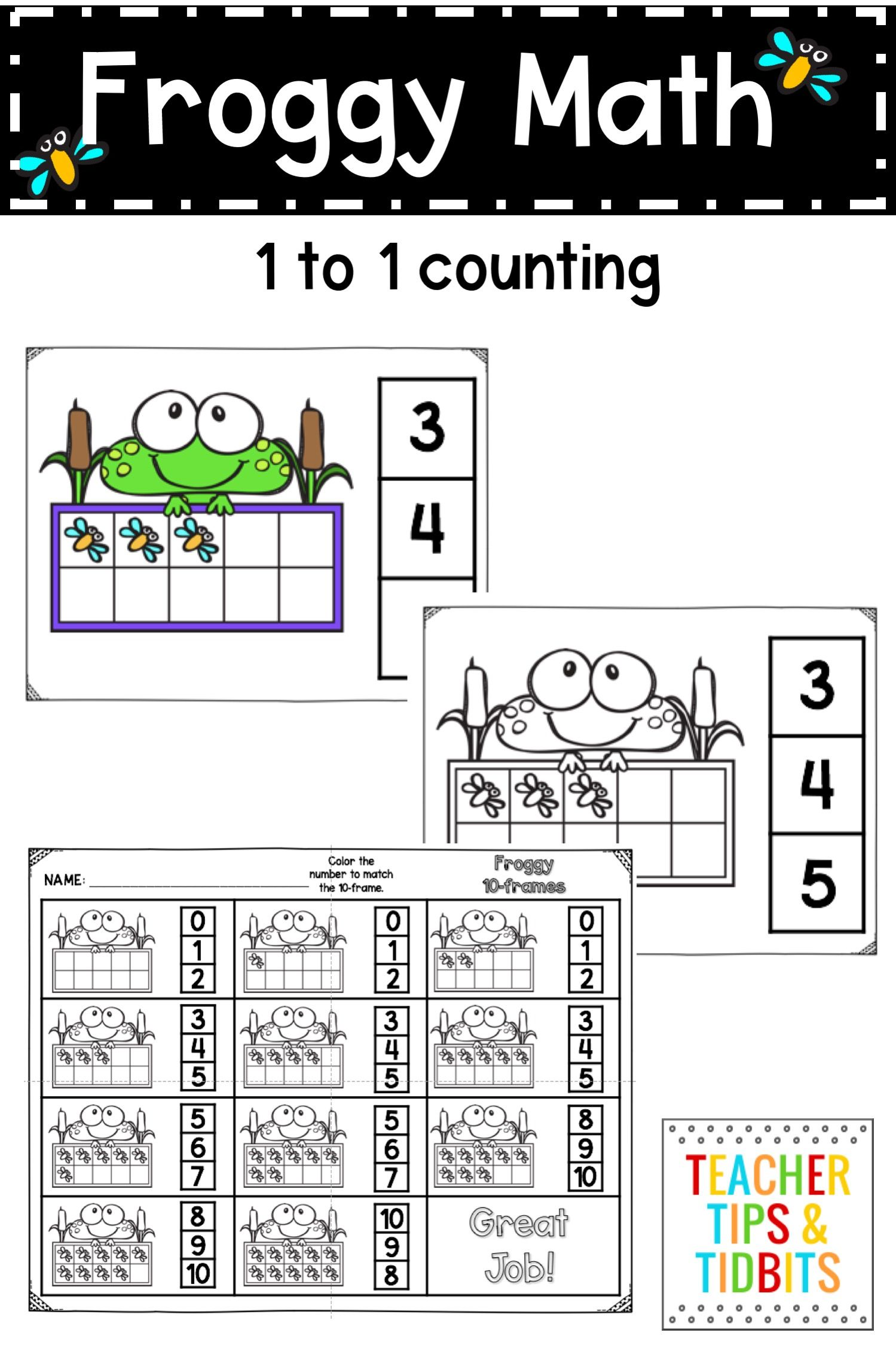 Frog Themed Ten Frame Activities