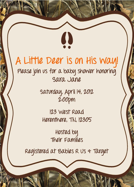 little hunter baby shower invitationexpectedblessings on etsy