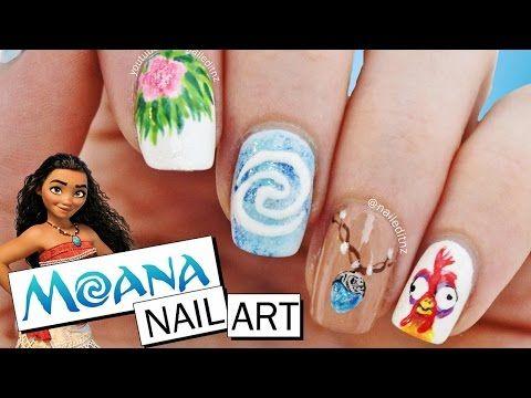 Disney Moana Nail Art Tutorial Fat Burning Workouts Pinterest