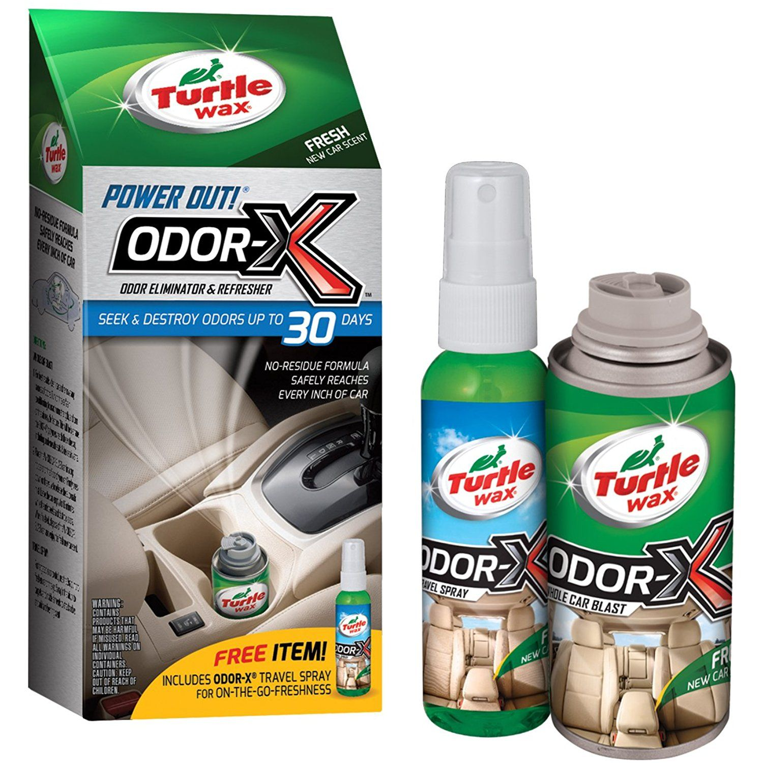 Turtle Wax 50653 Power Out OdorX Whole Car Blast, 2.524