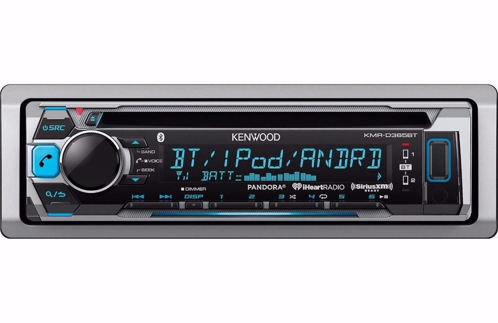 Kenwood KMRD365BT 1DIN InDash Car Stereo Marine CD
