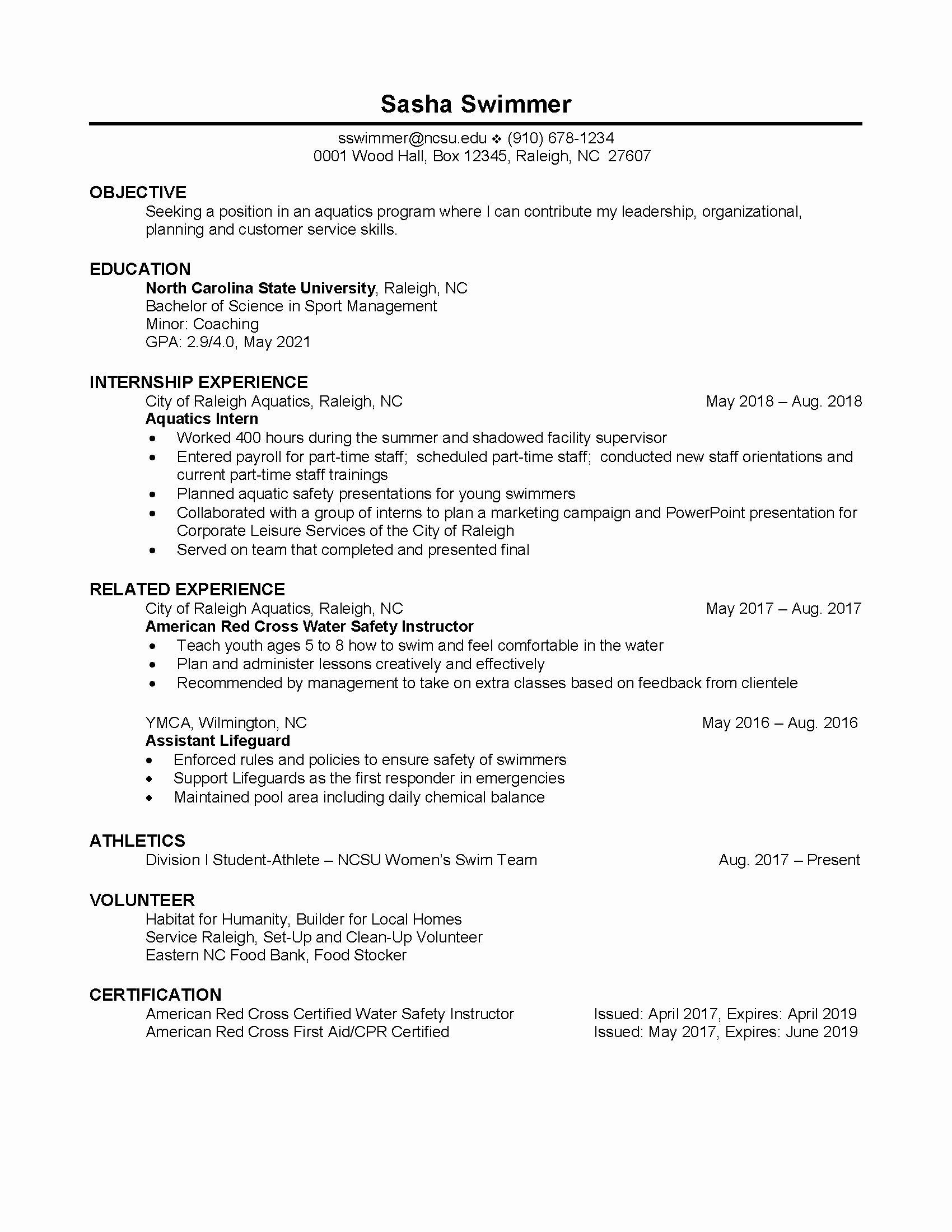 23 student athlete resume example in 2020 resume