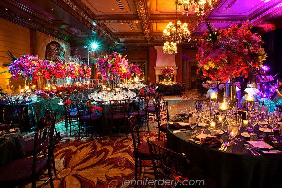 Masquerade Wedding Reception Decoration Exquisite And Pea At The Grand Del Mar